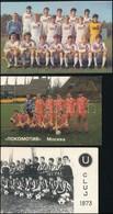 1973-1992 3 Db Focis Kártyanaptár - Publicités