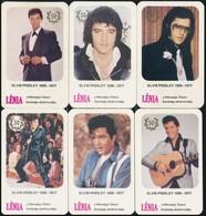 1985 Elvis Presley 12 Db Kártyanaptár. Hónapos Naptárak! / Monthy Calendars - Publicités