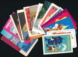 1970-1986 18 Db Szovjet Kártyanaptár - Publicités
