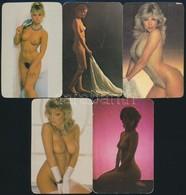 1982-1989 Erotikus Kártyanaptárak, 9 Db - Publicités