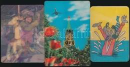 1978-1980 3 Db 3D Kártyanaptár - Publicités