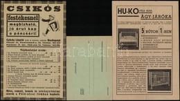 Cca 1930 3 Db Különféle árjegyzék: Csikós Festékes, állatorvosi Műszerek, Stb. - Publicités