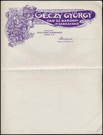 Cca 1910 Géczy György Vas és Baromfi Kereskedő Három Fejléces Számla/levélpapír 3 Db Kitöltetlen - Publicités