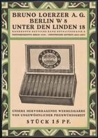 2 Db Német Nyelvű Reklám: Telino Cigaretta és Chlorodont Fogkrém - Publicités
