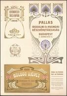 1906 Nyomdareklámok, 2 Db: Pallas Irodalmi  és Nyomdai Részvénytársaság, Wilhelm Gronau's - Publicités