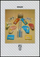 5 Db Csokoládépapír és Csokoládéreklám (Milka, Jácint, Barack, Stb.) - Publicités
