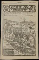 1915 Grammophon/Dörge Bank Rt., Nagyméretű újságreklám, 39x26 Cm - Publicités