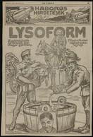 1915 Lysoform/ Brázay Sósborszesz Nagyméretű újságreklám, 36x24 Cm - Publicités