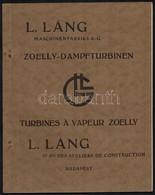 Budapest, Az L. Láng Maschienenfabriks A. G. Képes Reklám Gőzturbina Prospektusa - Publicités