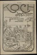 1915 Koch Jenő Kályhagyára/Stern József Cs. és Kir. Udv. Szállító Nagyméretű újságreklám, 39x26 Cm - Publicités