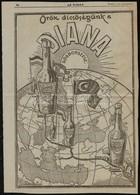1915 Diana Sósborszesz/Yes Porcelán Nagyméretű újságreklám, 37x26 Cm - Publicités