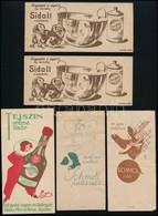 5 Db Reklámos Számolócédula (Sidol, Schmoll) - Publicités
