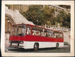 Cca 1966 Ikarus Busz Reklám Kép, Hátoldalán Német Szöveggel, 19,5x25 Cm - Publicités