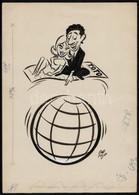 1967 Szepes Béla (1903-1986): TOTO, Sportfogadás Reklámterv, Tusrajz, Nyomtatásban Megjelent, Hátoldalon Pecsételve, 30× - Publicités