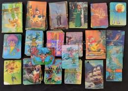 1976-1992 137 Db Szovjet Rajzfilmes Képváltós Dimenziós Kártyanaptár, Többféle Motívummal, Sok Rajzfilmmel - Publicités