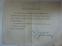 """Lettera """"REGIA AERONAUTICA  - COMANDO CENTRO DI AFFLUENZA RIMPATRIO DALLA LIBIA TENENTE"""" 1942 - Documenti Storici"""