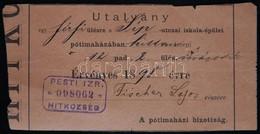 1898 Ülőhely-utalvány A Síp Utcai Iskola Imaházába Fischer Lajos Részére - Other Collections