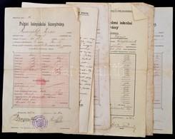 1905-1944 Izraelita Okmányok (Szikszói Kerületi Főrabbiság Bizonyítvány, Halotti Anyakönyvi Kivonat, Leányiskolai Bizony - Other Collections