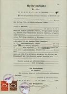 Geburtsurkunde 1937 Barleben Mit 2 Marken Gemeindekasse Verwaltungsgebühr Gebührenmarken, 2 Scans - Historische Dokumente