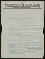1932 Bp., Az Országos Izraelita Patronage Egyesület Gyermekvédelmi és Hadiárva Gondozó Szervezetének Fejléces Levélpapír - Other Collections