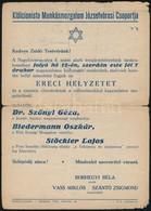 Cca 1946 A Klálcionista Munkásmozgalom Józsefvárosi Csoportja Meghívója Előadásra - Other Collections