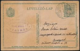 1917 Szatmár, Steuer Ábrahám Rabbi, Saját Kezű Levelezőlapja Fiának / Ábrahám Steuer Rabbi's Letter - Other Collections