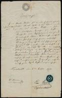 1854 A Freistadti Izr. Hitközség Okmánya Pecséttel és 6kr Szignettával  / Freistadt Austria Document With Israelit Seal - Other Collections