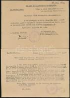1944 Eger, Zsidó Házingatlanok Gondnokainak Szóló Körlevél 3 Db - Other Collections