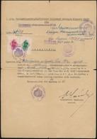 1944 Bp., M. Kir. Belügyminisztérium által Kibocsátott Tanúsítvány, Mely Egy Svéd állampolgártságú Magyart Mentesít A Sá - Other Collections