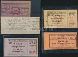 Miskolc 1926-1932. 'Miskolczi Orthodox Izraelita Hitközség' 4db Vágatási Bárca és értékjegy T:III Szakadás - Other Collections