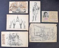Tartalmas Cserkész Motívum Tétel Dobozban: Fotók, Papírrégiség, Bélyegek Stb - Scoutisme