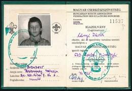 1991 A Magyar Cserkészszövetség Fényképes Igazolványa Cserkész Részére - Scoutisme