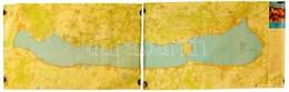 Nagyméretű Balaton Térkép Két Részből. Kétoldalas. 220x72 Cm - Other Collections