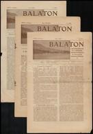 1940-41 Balaton, A Balatoni Szövetség Hivatalos értesítője. XXXIII-XXXIV. évf. Számai. Sok Képpel és Hirdetéssel - Other Collections