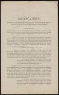 1898 A Balatoni Halászati Társulat ülésének Jegyzőkönyve 4p. - Other Collections