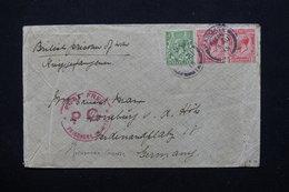 ROYAUME UNI - Enveloppe De Prisonnier De Guerre Pour L 'Allemagne En 1915 - L 21283 - Marcofilie