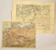 Vegyes Térkép Tétel, 2 Db:  Cca 1929 Budapest és Nagytétény, 1:75.000, M. Kir. Állami Térképező Intézet, 38x51 Cm Cca 19 - Maps