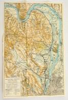Cca 1930 Szentendre, Visegrád Pilis Turista Térkép Hátoldalán Reklámokkal 31x50 Cm - Maps