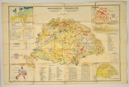 1928 Fodor Ferenc Magyarország Gazdaságföldrajzi Térképe / Economic-geographical Map Of Hungary, 1:1500000, Magyar Földr - Maps