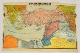 1941 A Közel-Kelet és A Balkán Térképe 65x100 Cm - Non Classés