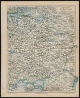Cca 1900 Mittleres Und Europaeisches Russland, Meyers Konv.-Lexikon, 6. Aufl., 30×25 Cm - Maps