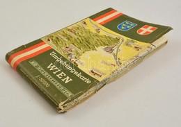 1966 Umgebungskarte Wien, Bécs és Környéke Térképe, 1:50000, Hajtás Mentén Kis Sérülésekkel - Maps