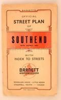 Cca 1920 A Southend Térképe. Bartnett's Southend Plan - Maps