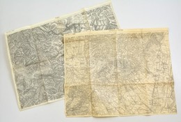 Cca 1910 Pistnyán, Priboj 2 Db Katonai Térkép / Military Maps - Non Classés