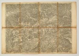 Cca 1880 Eisenerz, Wildalpe Und Aflenz Katonai Térképe, 1:75.000, Vászonra Kasírozva, 39x57 Cm./ Cca 1880 Military Map O - Maps