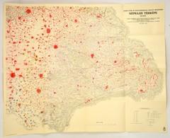 1940 Erdélynek és Magyarország Keleti Részeinek Néprajzi Térképe 1910-ben, 1:500000, Bp., Magyar Statisztikai Társaság Á - Maps