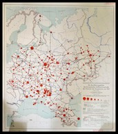 1941 Die Bevölkerungsdichte Der Europäischen Russland Innerhalb Der Grenzen Sowjetunion Von 1941 Stuttgart, 1941. Karten - Maps