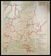 1941 Verwaltungsübersicht Der Europäischen Russland Innerhalb Der Grenzen Sowjetunion Von 1941 Stuttgart, 1941. Karten A - Maps
