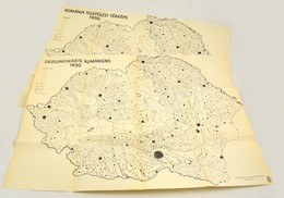 1940 Románia Települési Térképe 1930, Lépték Nélkül, Bp., Államtudományi Intézet, 87×65 Cm - Maps