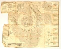 1834 Ernest Carl Frühwirth: Neuester Plan Der Haupt Und Residenzstadt Wien Mit Ihren Sämmstlichen Vorstädten. Rézmetszet - Maps
